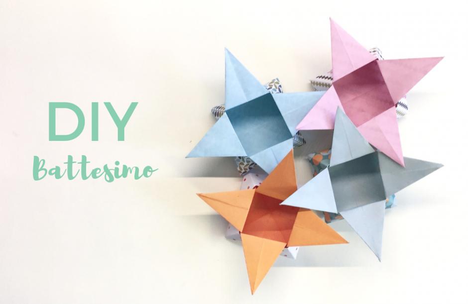 Battesimo: come realizzare una scatolina origami portaconfetti