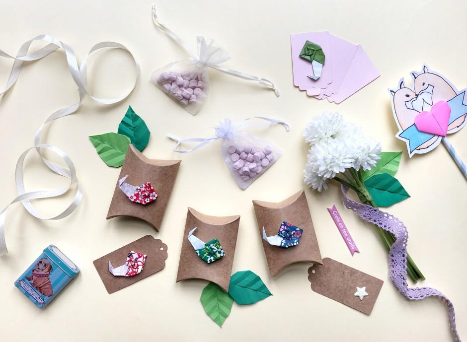 Bomboniere fai da te: scatoline portaconfetti con lumachina origami
