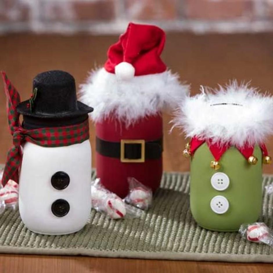 5 modi di usare i barattoli per gli addobbi natalizi