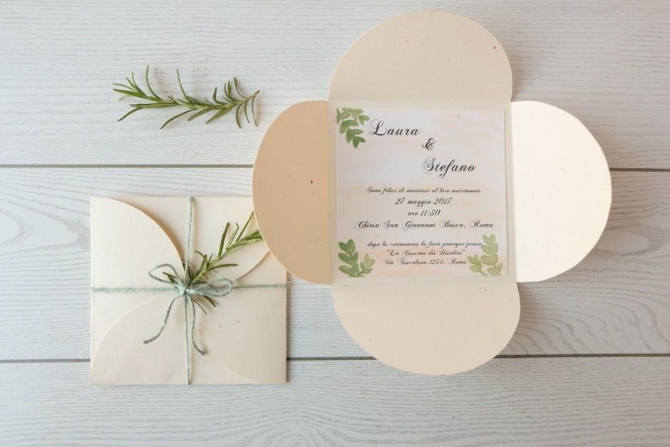 DIY Wedding Invitation, partecipazioni in stile green